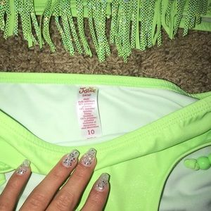 Justice Swim - A green fringe bikini from Justice size 10 in kids